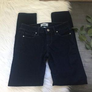 Paige Skinny Ankle Peg Dark Wash Jeans